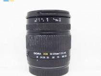 Obiectiv Sigma Zoom 18-125mm f/3.5-5.6 DC montura Canon EF