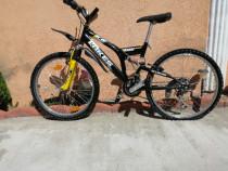 Bicicleta lakes 24 Zoll suspensie pe arcuri 21 viteze