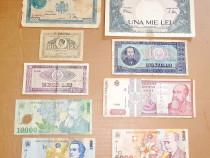 C717-Lot 9 bancnote Romania. 3 regaliste, 2 RSR si 4 Romania