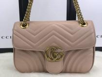 Geanta Gucci Marmont, logo metalic auriu/saculet inclus