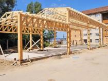Structura hala din lemn mult mai ieftin bun