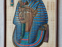 Papirus cu Tutankhamon gata înrămat