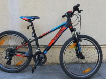 Bicicleta Copii Cube Kid 240 Black Flashred Blue