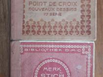 Lot 2 carticele vechi pentru cusaturi (point de croix)