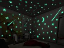 Set 30 Stele pe Tavan se aprind noaptea , stele care luminea
