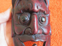 Masca vintage Lucifer, sculptura lemn, Germania-un cadou ine