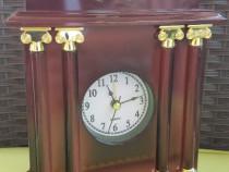 RD215 Ceas nou cu alarma de birou Greek Mahogany Look Clock