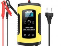Redresor auto smart FOXSUR 12V 5A cu afisaj electronic