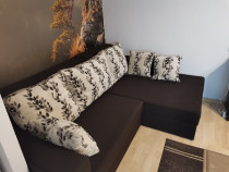 Canapea pe colt extensibila cu lada