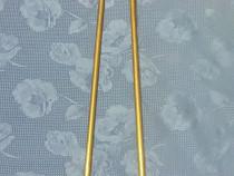 D12-Cleste carbuni vechi cca 1900 bronz masiv auriu 58 cm.