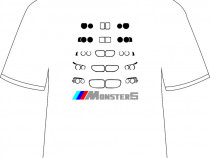 "Tricou personalizat ""Monster5"""