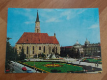 Vedere / carte postala,-Cluj - Piata Libertati