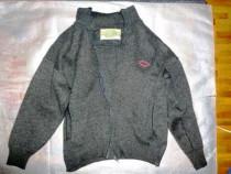 Flanea lana cu fermoar, buzunare si guler,48/XL,ramburs
