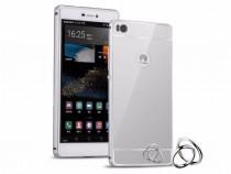 Huawei P8 - Bumper Case Rama Aluminiu Capac Plastic Argintiu