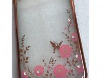 Huse,Folii IPHONE 6/6S, 5SE,6s+ gel transparent aspect metal