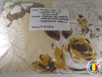 Lenjerie de pat din 4 piese XXL 100% bumbac Trandafiri Sibiu