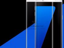 Samsung S7 Edge - Folie Curbata Sticla Gold Negru Alb
