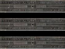 Şablon litere 7 mm IPL Timişoara