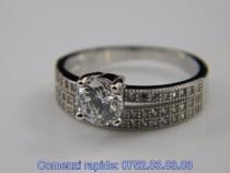 Inel argint rodiat, design italian, zirconii: IN338091