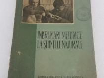 Îndrumări metodice la științele naturale/ 1956