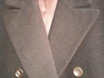 Palton barbatesc clasic lana, apaca, braduti, culoare maro