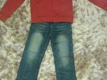 Bluza noua si blugi 5-7 ani