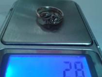 Inel floare argint 925, marcat