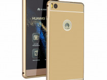 Husa bumper aluminiu metalic huawei p9 gold fullcover nou