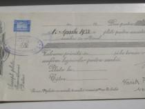 586- Polita bancara-Cambie-Bancile Banatene Unite SA ARAD.