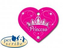 Medalion Inima Mare Pet Scribe Roz Princess
