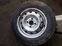"Janta Opel 4x100 13"" cu anvelopa 145 80 13"