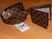 Seturi Louis Vuitton -curea+portofel-calitatea intai
