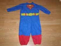 Costum carnaval serbare superman pentru copii de 2-3 ani