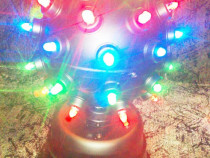 Glob lumini disco bar cluburi 3 culori verde rosu albastru 3