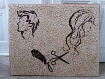 Tablou mozaic ceramica ideal decor frizerie coafor