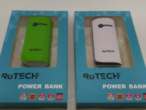Power Bank Rotech 4400mAh (alb, verde)