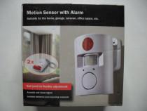 Senzor de miscare,cu functie alarma, germania, 2 telecomenzi
