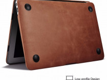 Husa slim piele naturala iCarer, MacBook Air 11 inch, maro