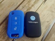 Husa silicon 3 butoane VW polo,Golf 5,6,Passat,Touran