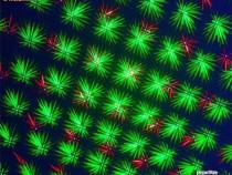 Mini laser disco bicolor cu sensibilitate sonora si trepied