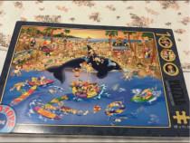 Puzzle 1.000 de piese, D-toys, model amuzant