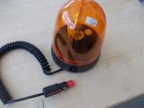 Girofar cu mufa, kit magnetic si lampa de 12V