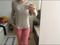 Bluza pulovaras Berska,bej, XS,noua,74% vascoza,2% elastan