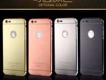 Iphone 6 6S - Bumper Aluminiu 0.5mm cu Capac Plastic Oglinda