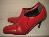 4809-Pantofi Dama made in Italy rosi din piele. Marime 39.