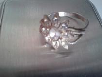 Inel floare mare argint 925