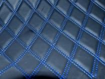 Material romb tapiterie negru / cusatura neagra