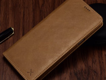 Husa piele xoomz iphone 7 plus magnetica slot carduri, maro