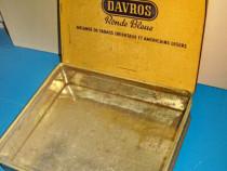 Davros cutie tigarete veche anii 1930, Stare buna in patina