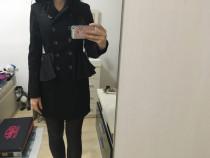 Palton haina trenci Zara, negru, xs, super, nou cu eticheta